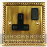Monarch Roped Antique Bronze Plug Sockets 13 Amp